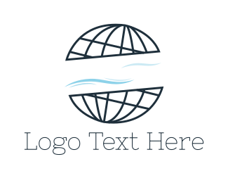 World - Abstract World Atlas Globe logo design
