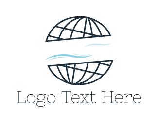 Vintage - Abstract Globe logo design