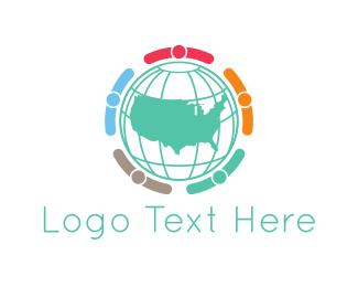 Atlas - American Globe logo design