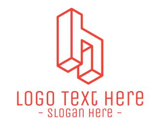 Handyman - 3D Letter H logo design
