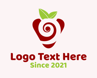 Candy Cane - Strawberry Spiral logo design