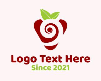 Berry - Strawberry Spiral logo design