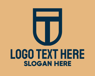 Online Security - Shield Letter T  logo design