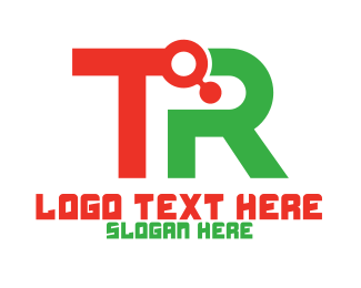 Solutions - Tech TR Monogram logo design