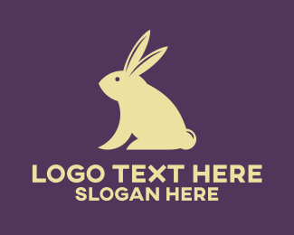 Rabbit Ears - Gold Rabbit logo design