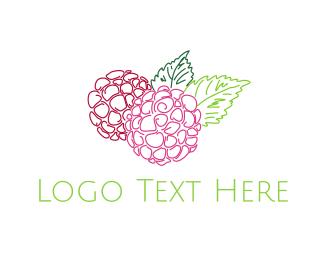 Blueberry - Hydrangea Flower logo design