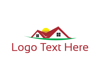 Residential Construction - Red Roof logo design