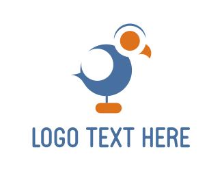 Chick - Blue Cuckoo logo design