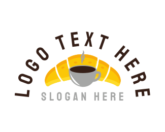 Breakfast - Coffee & Bread logo design