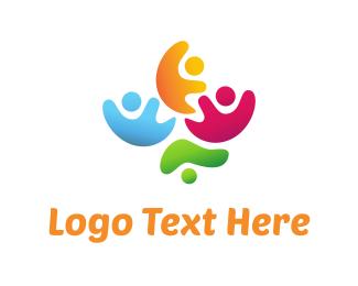 Institution - Colorful Foundation logo design