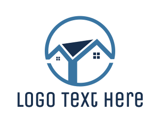 Blue Round House Logo