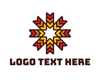 Art Gallery - Sun Flake logo design