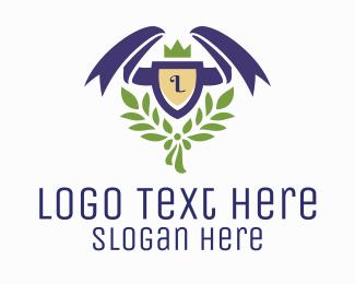 Ornamental Plants - Ribbon Shield Lettermark logo design