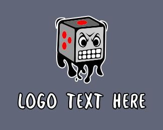 Dice - Angry Dice Graffiti logo design