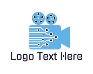 Youtube - Video Circuit logo design