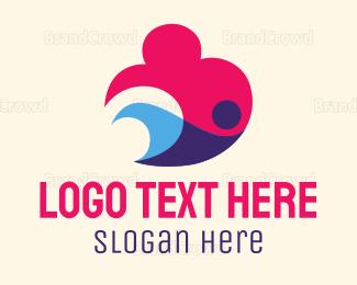 Swimmer - Abstract Swimmer logo design