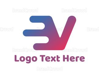 Advertising - Electric Blue V logo design