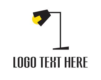 Black And Yellow - Black Lamp logo design