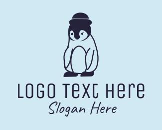 Hat - Penguin Hat logo design