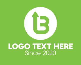 Success - Green Arrow Letter B logo design