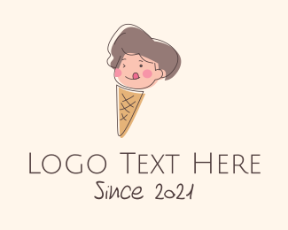 Youngster - Kid Iced Cream Mascot logo design
