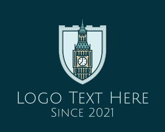 Landmark - Big Ben Shield Landmark logo design