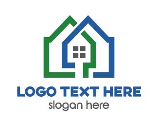 Apartment - Green Blue Apartment  logo design