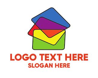 School - Colorful Folders logo design