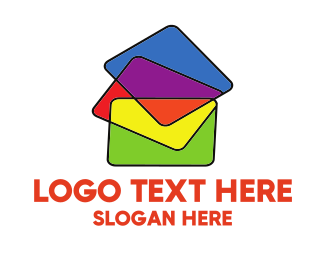 Teaching - Colorful Folders logo design