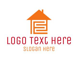 Letter E - Home Maze logo design