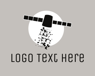 Space - Space Satellite logo design