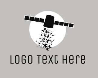 Space - Space Satellite logo design