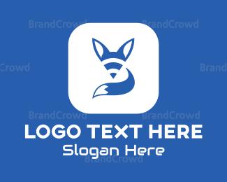 Orange And Gray - Fox Cube logo design