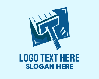Sweeping - Blue Squeegee Window Cleaner logo design