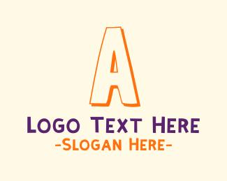 School - Kindergarten Letter A logo design