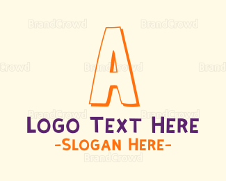Acronym - Kindergarten Letter A logo design