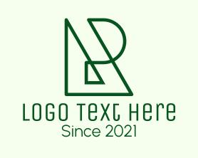 Company - Monoline Letter R logo design