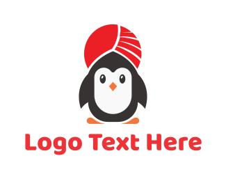Birdie - Turban Penguin logo design