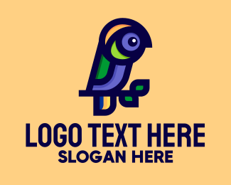 Macaw - Tropical Parrot  logo design