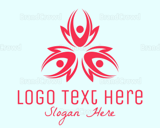 Crowd - Flower Petal People logo design