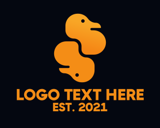 Poultry - Double Ducks logo design