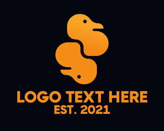 Duck - Double Ducks logo design