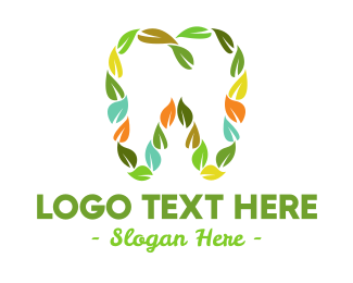 Dental Leaves & Tooth logo design