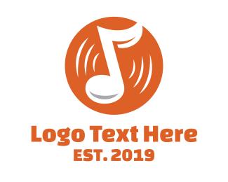 Orange Orange - Orange Vinyl Music logo design