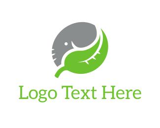Yin - Elephant Leaf logo design