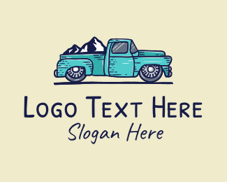 Trekking - Mountain Road Truck logo design