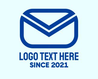 Inbox - Blue Mail Envelope logo design