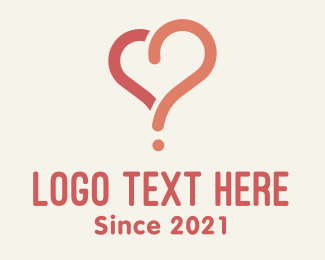 Question - Love Heart Question logo design