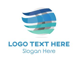 Breeze - Wind Sailing logo design
