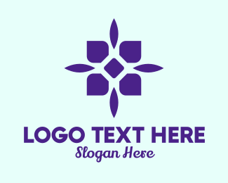 Event Styling - Simple Purple Flower  logo design